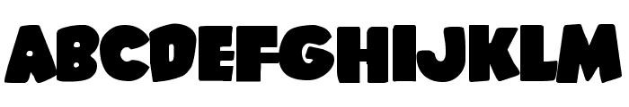 Shablagoo Expanded Font LOWERCASE