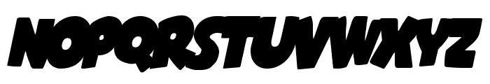 Shablagoo Overlap Italic Font UPPERCASE