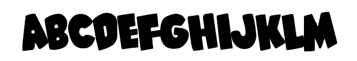 Shablagoo Rotated Font LOWERCASE