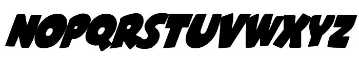 Shablagoo Super-Italic Font UPPERCASE