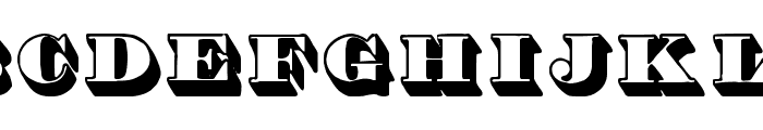 Shadded tfb Font UPPERCASE
