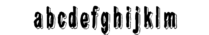 Shadow Catcher Font LOWERCASE