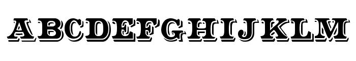 Shadowed Serif Font LOWERCASE