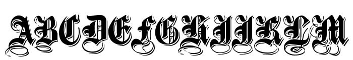 ShadowedBlack Normal Font UPPERCASE