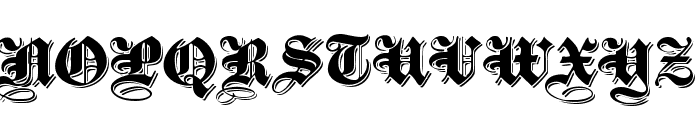 ShadowedBlackWide Normal Font UPPERCASE