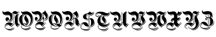 ShadowedGermanica Font UPPERCASE