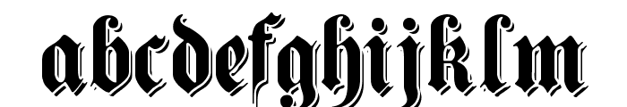 ShadowedGermanica Font LOWERCASE