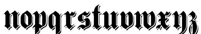 ShadowedGermanica Font LOWERCASE