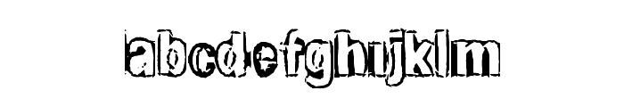 ShadyWalk Font LOWERCASE