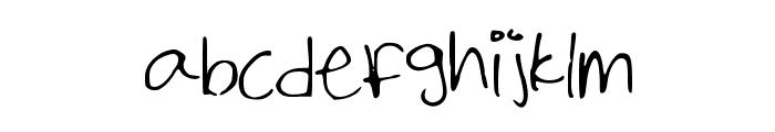 Shailene_Marks Font LOWERCASE