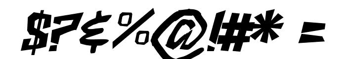 ShakeAndBake Italic Font OTHER CHARS