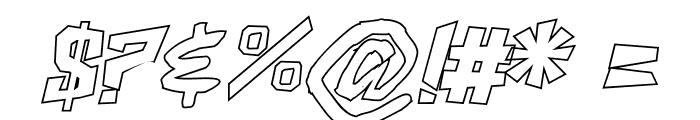 ShakeAndBake Ultra Italic Font OTHER CHARS