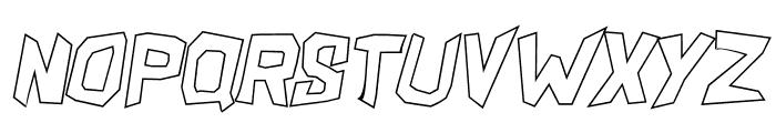 ShakeAndBake Ultra Italic Font LOWERCASE