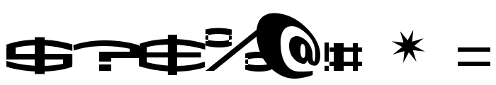 ShakeDown SemiBold Font OTHER CHARS