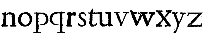 Shakespeare First Folio Font Font LOWERCASE