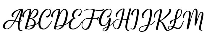 Shalinta Font UPPERCASE