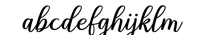 Shalinta Font LOWERCASE