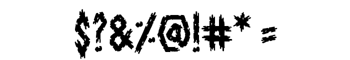 ShallowGraveBB Font OTHER CHARS