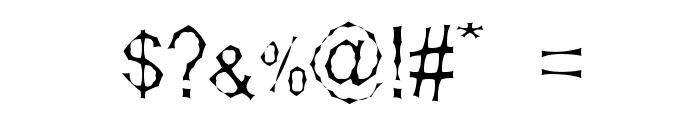 Shamantics Gothick Font OTHER CHARS
