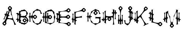 Shamantics Gothick Font UPPERCASE