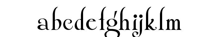 Shangri La NF Font LOWERCASE