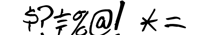 Shank Bold Font OTHER CHARS