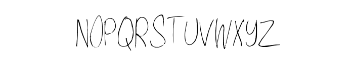ShantyHand-Regular Font UPPERCASE