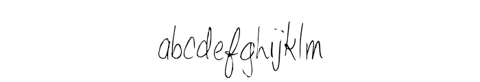 ShantyHand-Regular Font LOWERCASE