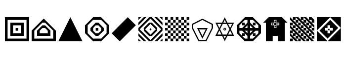 Shapes Regular Font UPPERCASE