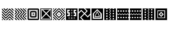 Shapes Regular Font LOWERCASE