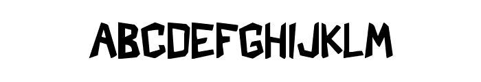 Shark Crash Font LOWERCASE