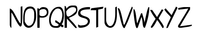 Shark HandWritten ABC Font UPPERCASE