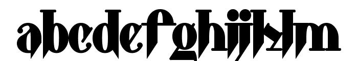 Shark Font LOWERCASE