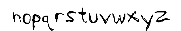 Sharkscribble Font LOWERCASE