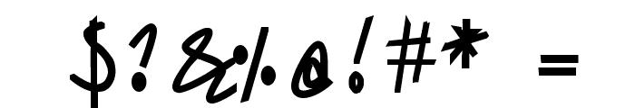 Sharon Lipschutz Handwriting Bold Font OTHER CHARS