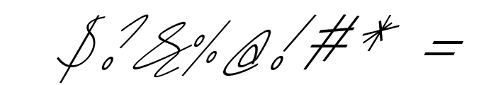 Sharon Lipschutz Handwriting Italic Font OTHER CHARS