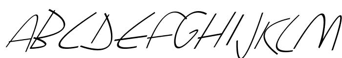 Sharon Lipschutz Handwriting Italic Font UPPERCASE