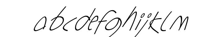 Sharon Lipschutz Handwriting Italic Font LOWERCASE