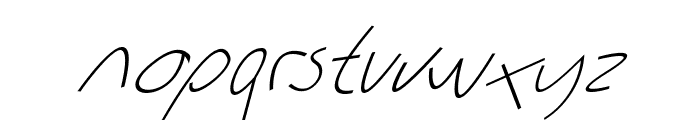 Sharon Lipschutz Handwriting Italic Font LOWERCASE