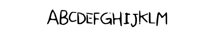SharonHandwriting Font UPPERCASE