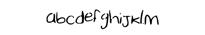 SharonHandwriting Font LOWERCASE