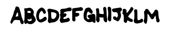 SharpK Font UPPERCASE