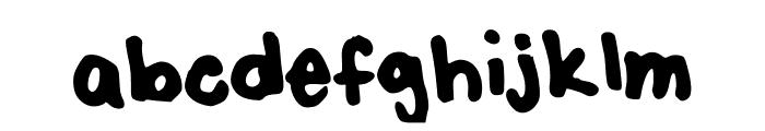 SharpK Font LOWERCASE