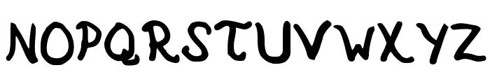 Sharpie Hand Font UPPERCASE