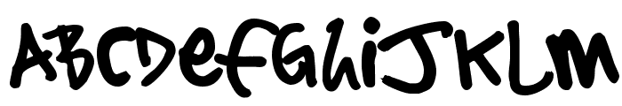 Sharpie Stylie Font UPPERCASE