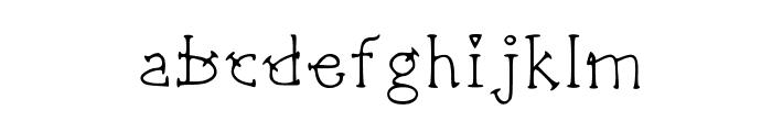 Sharpshooter Medium Font LOWERCASE