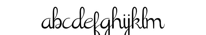 Shathika Font LOWERCASE