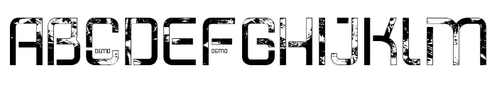 Shatterdome Personal Use Grunge Font LOWERCASE