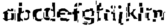 Shattered Font LOWERCASE