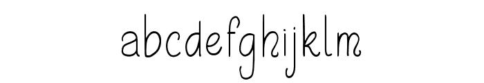 Shayfinton-Regular Font LOWERCASE